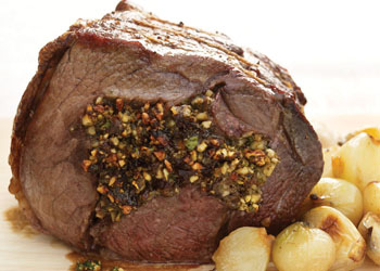 Beef Stuffed with Prunes and Cashew Nuts
