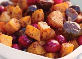 Chestnuts with Squash and Cranberries