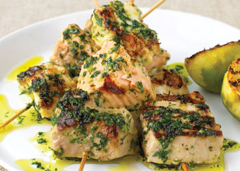 Mixed Fish Kebabs