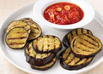 Grilled Eggplant with Spiced Tomato Sauce