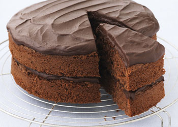 All-in-one Chocolate Cake with Fudge Icing