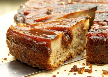 Grilled Banana Upside-Down Cake