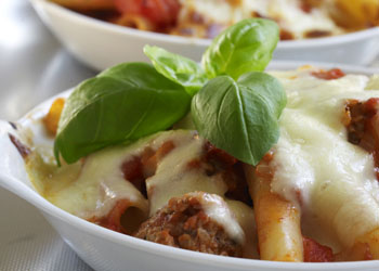 Baked Ziti with Sausage and Tomatoes
