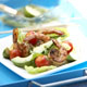 Romaine and Avocado Salad with Grilled Chile Shrimp and Lime-Cumin Dressing
