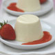 Panna Cotta with Strawberry Pur�e