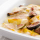 Peach Gratin with Muscat Sabayon