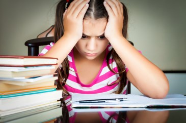 gifted child frustrated with homework