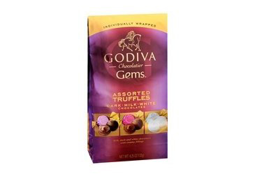 teacher christmas gift, godive chocolate gems pack