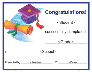free graduation certificate  printable graduation certificate - Commonpence.co