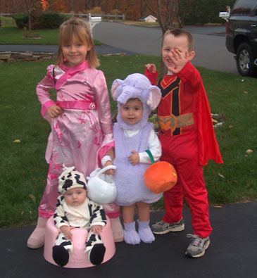 Princess,Cow,Elephant,Superhero,HalloweenCostumes