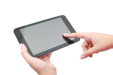 Mothers Day gift, womans hands holding eReader tablet