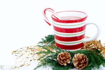 Christmas gifts for anyone, Christmas mug of hot cocoa as holiday gift