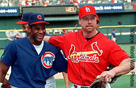the sports legendary of mark mcgwire and sammy sosa