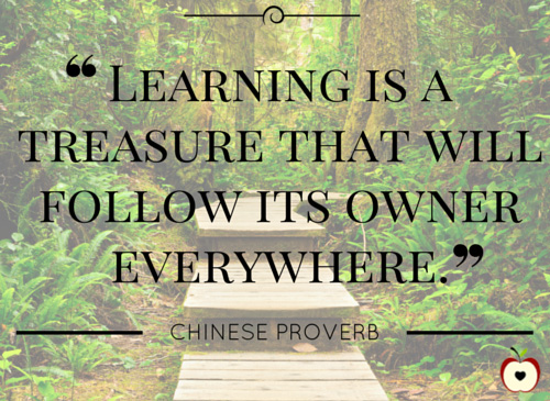 Learning is a treasure that will follow its owner everywhere