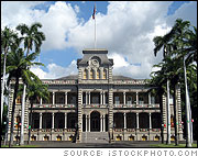 Iolani Palace, Honolulu, Hawaii