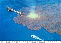 The IXTOC I exploratory well blew out on June 3, 1979 in the Bay of Campeche off Ciudad del Carmen, Mexico.