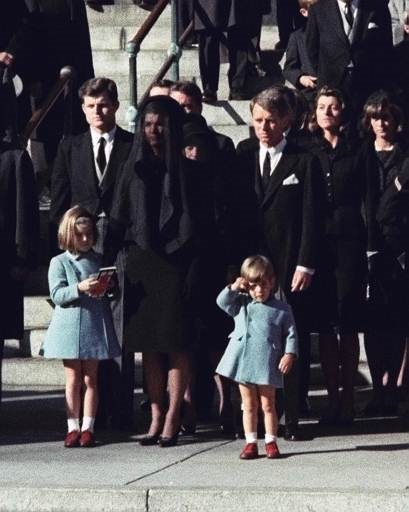 John Jr. salutes at JFK's funeral