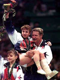 Kerri Strug, after Olympic injury