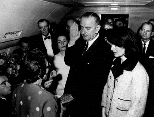LBJ takes oath after JFK assassination