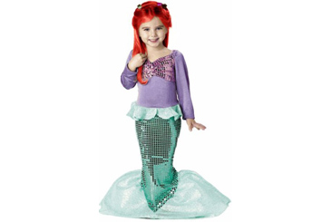 2012 Halloween costumes, Ariel the Little Mermaid girl