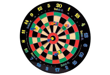 tabletop game, magnetic dart board