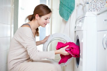 time saver, woman doing laundry
