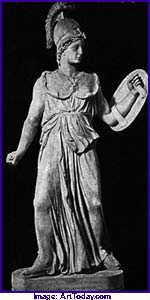 statue of the goddess Minerva