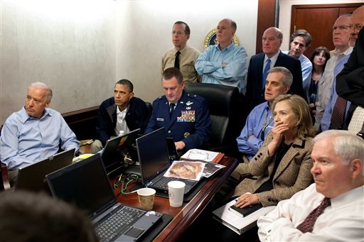 Obama, Clinton, and Biden in situation room