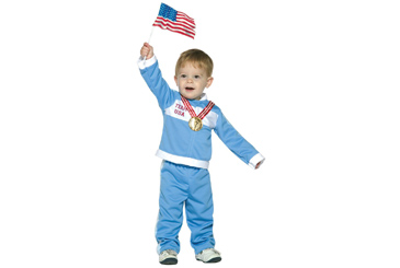2012 Halloween costumes, toddler Olympian