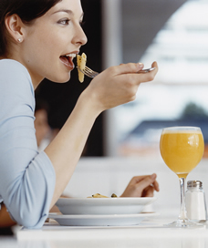 woman eating healthy preconception diet