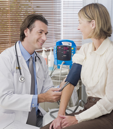 prenatal blood pressure checkup