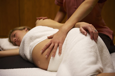pregnant woman getting massage