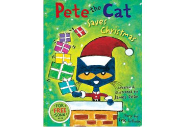 award winning childrens book, pete the cat saves christmas