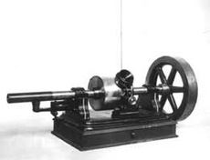 model of Thomas Edison's phonograph