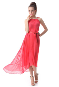 2013 prom dress, pleated color block