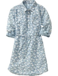 printed chambray dress
