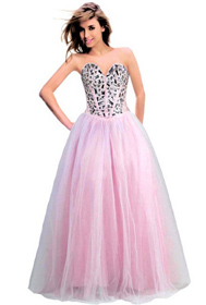 prom dress, jeweled bodice