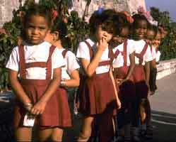 school children in uniforms