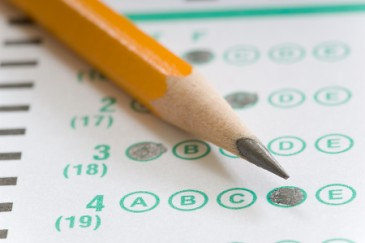 what colleges look for, standardized test with pencil