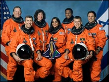 The crew of the Columbia STS-107