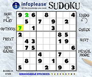 Infoplease Sudoku: Play online or print out to play later