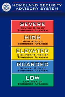 Dept. of Homeland Security's Homeland Security Advisory System