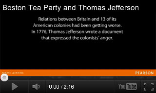 Video: Boston Tea Party and Thomas Jefferson