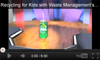 Video: Recycling for Kids with Waste Management's Mr. Cool Can