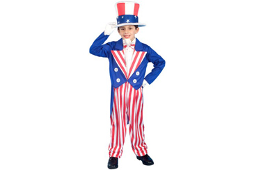 2012 Halloween costumes, kids Uncle Sam