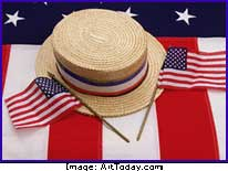 Hat & American flags
