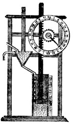illustration of a water clock