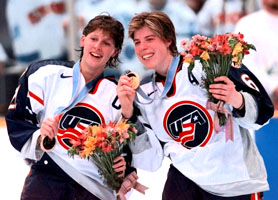 The USA Women's Hockey team wins at Nagano Olympics
