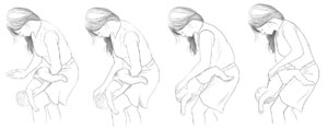 The Heimlich Maneuver for an infant.